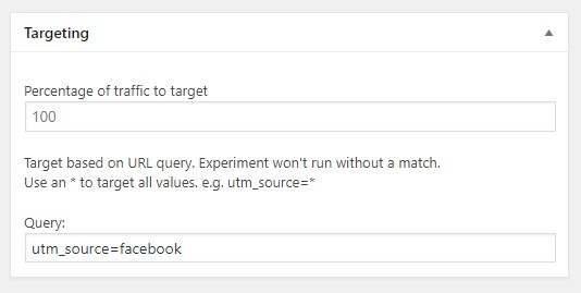 targeting query value